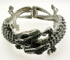 Kenneth J Lane double head lizard bracelet