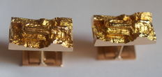 Vintage yellow gold cuff links