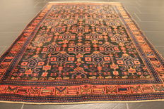 Hand-knotted Persian carpet, collector's carpet, genuine Hamdan, made in Iran, plant colours, 140 x 210 cm