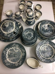 Coffee and dinner tableware for 12 people of ROYAL TUDOR WARE Staffordshire England