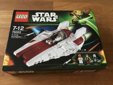 Star Wars - 75003 + 75049 + 75050 - A-wing Starfighter + Snowspeeder + B-wing