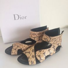 Dior Feline sandal flat - Open leather ankle boots / shoes / sandals