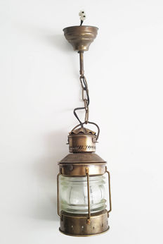Lamp made from a masthead / anchor light
