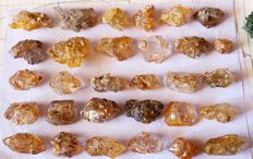 Golden Terminated Elestial Window Quartz Crystals - 315 Grams (30)