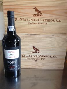 2007 Quinta do Noval 'Silval' Vintage Port - 12 bottles in 2 original wooden case