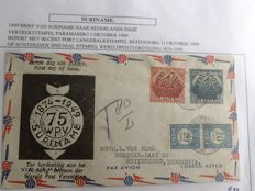 Netherlands overseas - collection of 63 postal items