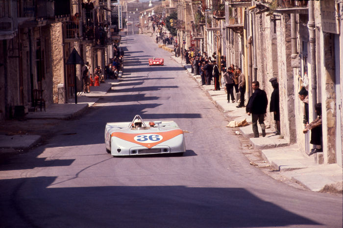 1970 Targa Florio Porsche 908 Richard Attwood Colour Photograph  54cm x44cm
