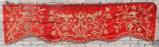 England, gold thread embroidered tapestry / banner, 19th century