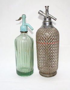 Two Seltzer bottles or soda siphon, second half 20th century