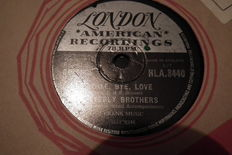 20 78 rpm records with sleeves, 10 inch, all top artists, The Platters - Everly Brothers - Pat Boone etc. fit inside the jukebox