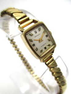 Prisma - full 14 K Yellow Gold 19.49 Gram's - Bracelet / Case - Ultra exclusive vintage - Lady's Timepiece