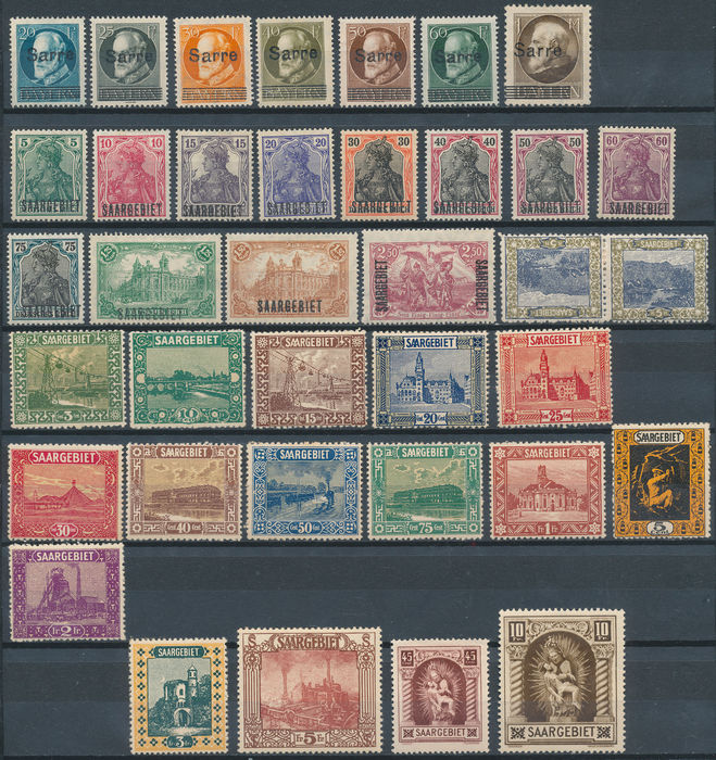 Saar district and Saarland 1920/1952 - Collection