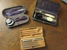 Three original cases medical instruments (possible from general practitioner)