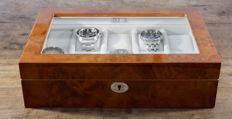 Luxury Light Burr Walnut Wood Finish Watch Box - in new condition