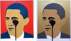 Pure Evil - Crying Obama Set (Red & Gold)