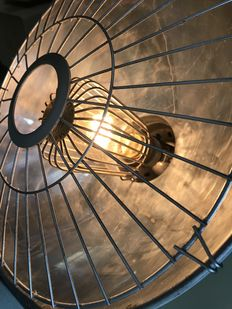 Steampunk lamp in industrial design from the 60s