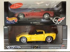 Hot Wheels - Scale 1/18 - Corvette C5 and Corvette Z06