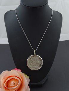 Silver 925 kt necklace with pendant - 45.5 cm