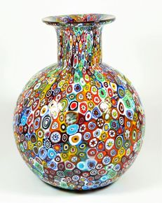 Livio Campanella (Campanella, Murano) - ball-shaped vase with Murrina Millefiori (25 cm)