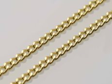 18k Gold. Chain. Gourmet. Length 50 cm