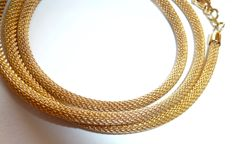Elegant cord chain necklace - round necklace made of 333 / 8 kt gold, length 45 cm