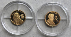 World - gold medals - apostles JUDAS and PETRUS (2 pieces) – Gold