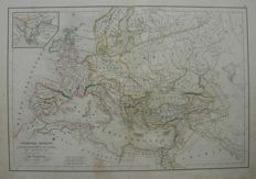 Europe, Middle East, France; A. Delamarche - 5 maps - 1838 / 1843 / 1845