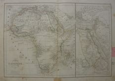 Africa, Europe, Algeria, France; A. Delamarche - 4 maps - 1838 / 1843 / 1845 / 1846 / 1848