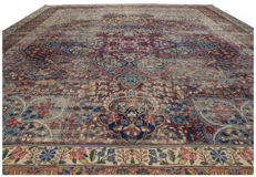 Kirman Ravar Lavar – Original authentic antique rug – 400 x 290 cm – Persia (Iran) – With certificate of authenticity by an expert appraiser – (Galleria farah 1970)
