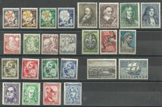 The Netherlands 1928/1935 - Selection of series and stamps