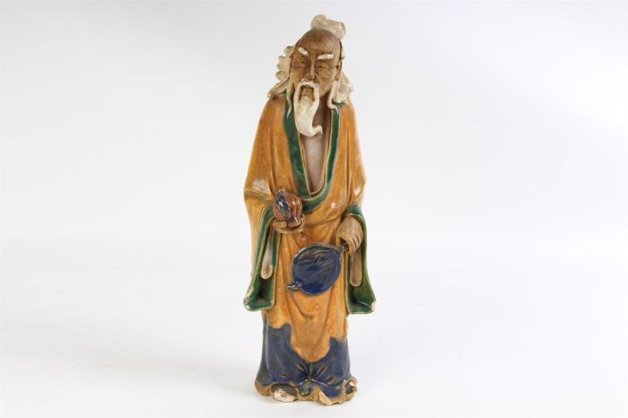Stoneware sculpture, Sage – China – around 1920
