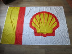 Shell flag - 1970s/1980s - New old stock