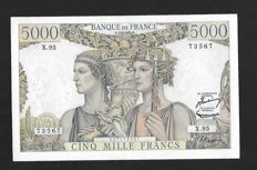 France - 5000 francs Land and Sea type 1949 - Fayette 48/6