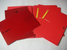 Lot of 4 Ferrari 355 Brochure and its variations - in original Ferrari press folder 1994