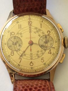 Men's chronograph in 18 kt pink gold, 1945/1950