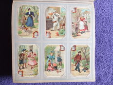 Album Chromos Liebig - 50 old series of 6 cards - Liebig edition in very good condition - from 1899 to 1903.