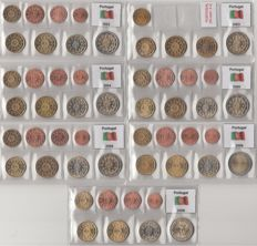 Portugal – Year packs Euro coins 2002 through 2006, 2008 and 2009 complete