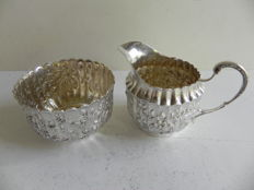 Silver cream set, JLH, import in Sweden