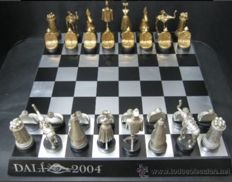 Surrealist chess of Salvador Dali with Board of Dalí Foundation