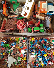 Large collection old Playbig and Playmobil including Fort Union.