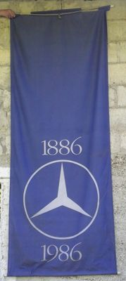 Mercedes Benz - Lot of 3 banners for the centenary of the brand (1886, 1986) - 1986