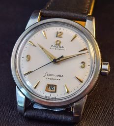 Omega-Sea Master-Rare-Calendar-Date at 6-Men's-1950's/60s-Auto