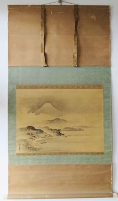 Old kakemono with Mount Fuji - Japan - mid 20th century.