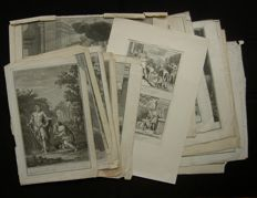 Various engravers - lot consists of 15 biblical illustrations - 18th century