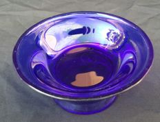 Jean Beck Munchen - cobalt blue glass bowl