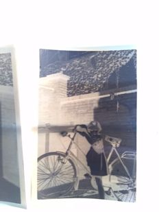 Glass negatives 11x - negatives 6x - Family / Children - Bicycle