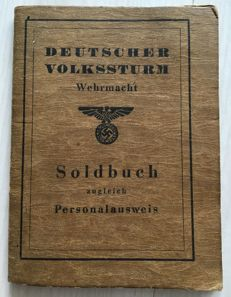 Wehrmacht pay book and documents