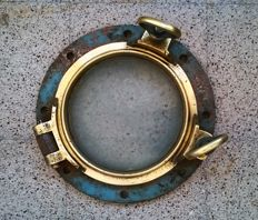 Antique brass porthole, early 20th century