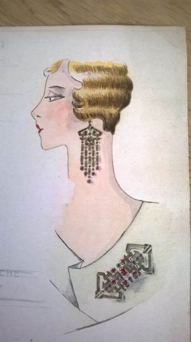 Art Deco Fashion Sketch