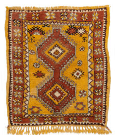 2869 Authentic and original rug, hand-knotted, Berber (127 x 106 cm) with certificate of authenticity from an official appraiser (Galleriafarah1970)
